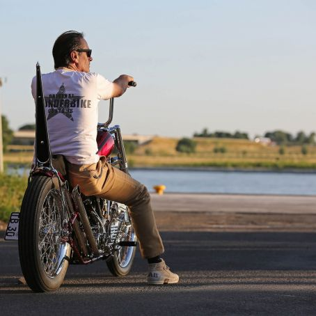 Thunderbike Harley Davidson 30 Years Panhead Chopper Shooting Custombike Foto Ben Ott 30